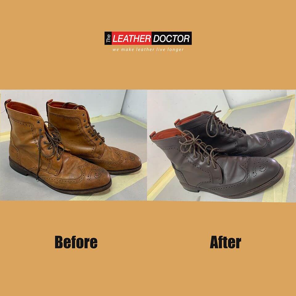 Before After – Leather Shoes