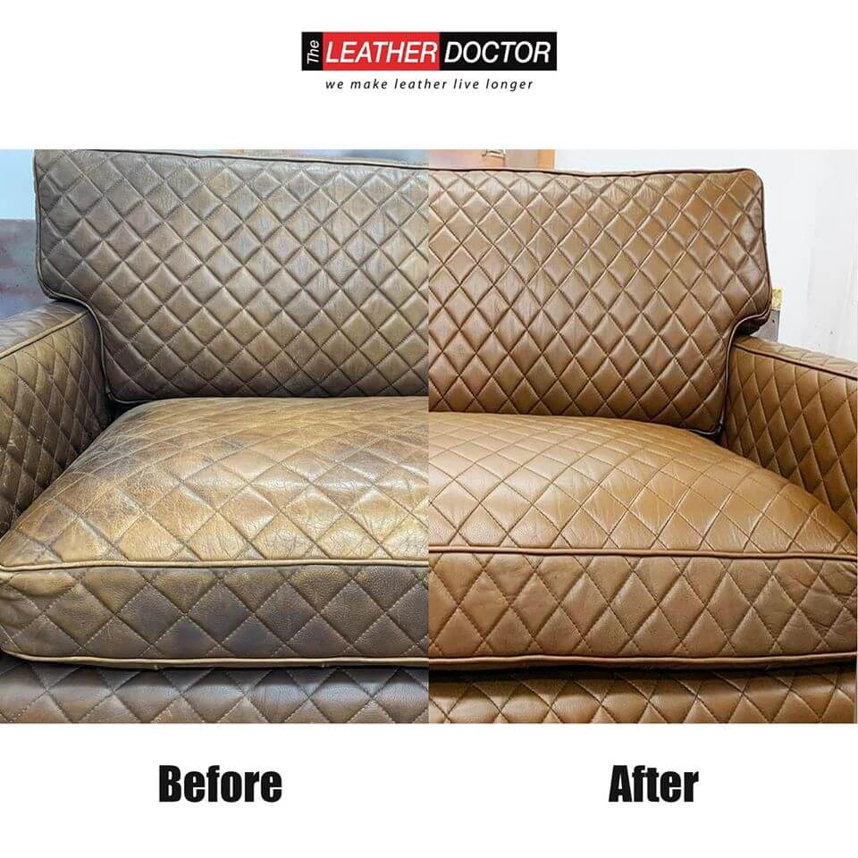 Before After – Brown Sofa