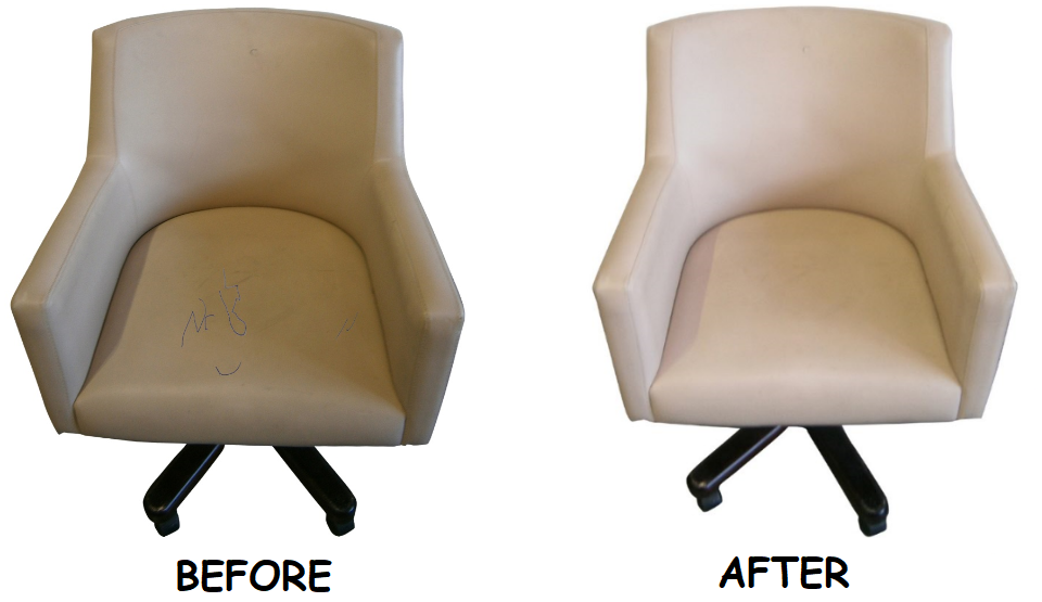 Before after – White sofa