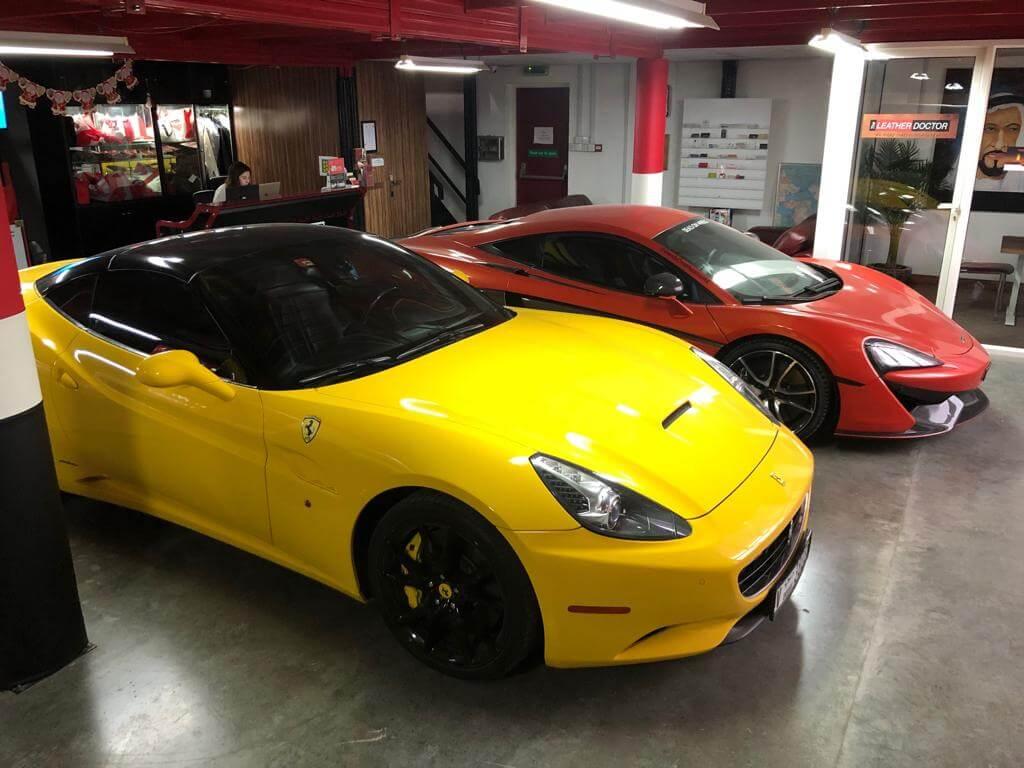 Ferrari and a McLaren