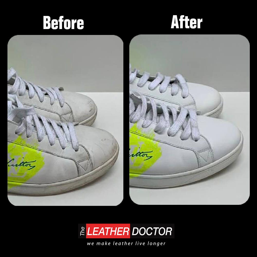 White leather – Shoe cleaning service