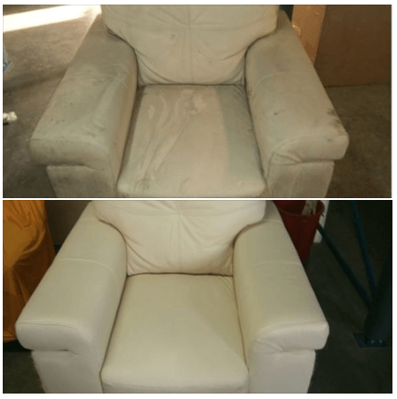 White Sofa – Before After