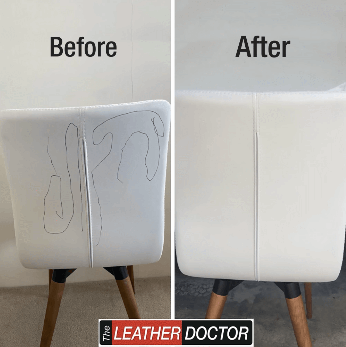 White Chair – ink mark removal