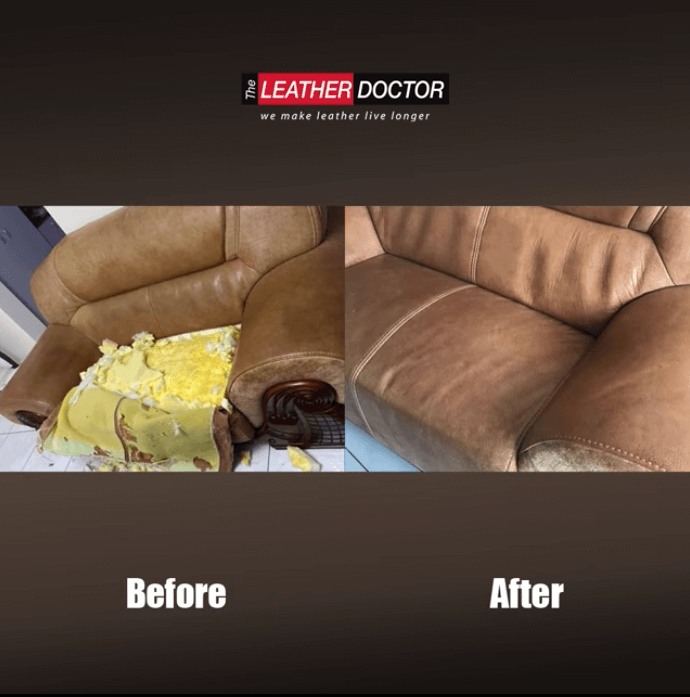 Brown sofa – refurbish